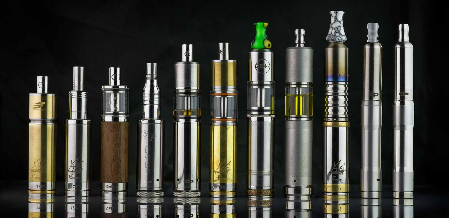 Collection de mods de marque Caravela, GP Paps, Piccolo, Spheroid, JM22, Senio, ZEN, Diablo hybrid, Siam Mods et BullBox